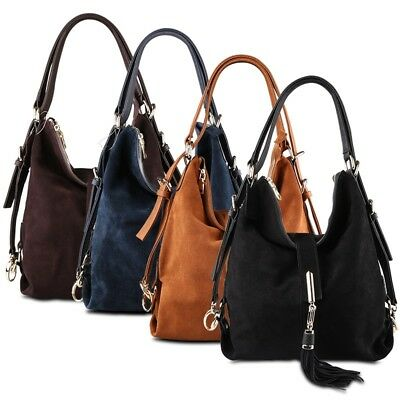 29ebc063b9e9 Women Split Suede Leather Shoulder Bag Female Leisure Nubuck Casual Handbag