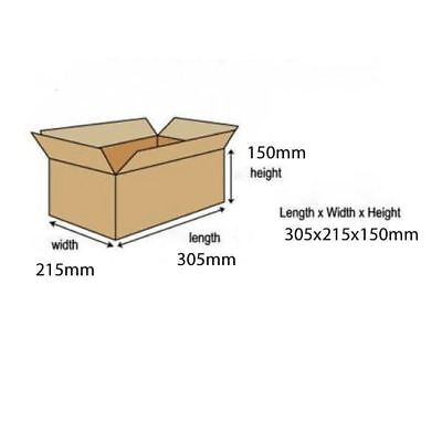 Carton With Lid 305x215x150mm Brown (Pack of 10) 144668114 [SO10483]
