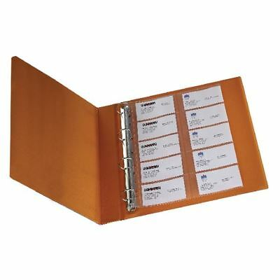 Q-Connect Punched Business Card Pocket Polypropylene A4 Capacity 20 [KF00716]