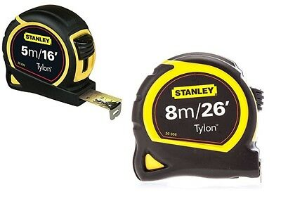 Stanley Pocket Tape Tylon Blade True Zero 5m/16 ft 8m/26ft