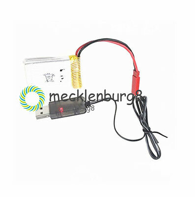 1X Lipo Lithium Battery USB Cable Charger Red JST Female Head 3.7V 500mA Output