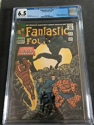 Fantastic Four #52 CGC 6.5 First Black panther T'Challa
