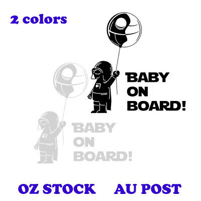 Darth Baby Decal Vader Star Wars Car Sticker Baby On Board Cool Different Geek