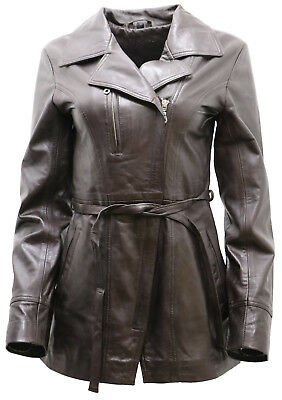 03b1473f5f2f MORENA NAPPA LEATHER women jacket size in brown colour, size M, UK ...