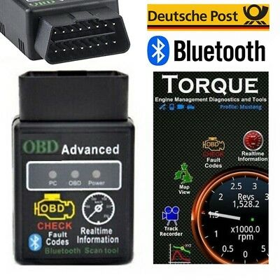 ELM327 OBD II Bluetooth Car Scanner tools für TORQUE ANDROID 7.0 Benz Audi Auto