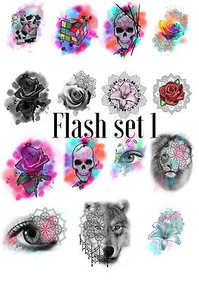 A4 Tattoo Flash Sheets Original By Wade.