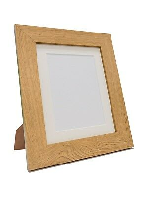Metro Oak Picture Photo Frames with Ivory Mounts or Frame Only
