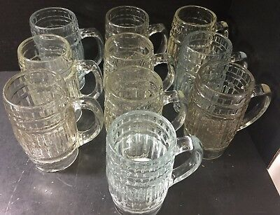 Vintage Set of (10) Richardson Liberty Root Beer Barrel Mugs Rochester, NY Good