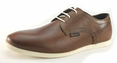Red Tape Mens Casual Leather White Sole Laceup Shoes  Tan
