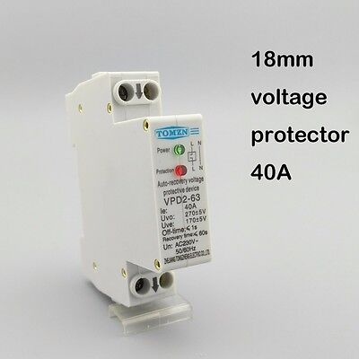 SINOTIMER SVP-60L 40A Under//Over Voltage Protector Relay Breaker LED Display CX