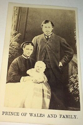 Antique Victorian Royalty / Political Couple! Prince of Whales & Family CDV! Old