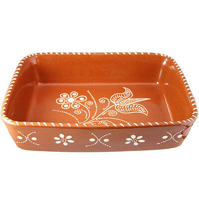 Traditional Portuguese Hand Painted Vintage Clay Terracotta Cooking Pot
