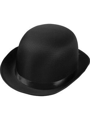 DELUXE ADULT FORMAL Black Derby Bowler Costume Coke Hat -  7.48 ... f6fa6abcd722