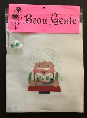 "Beau Geste Hand-painted Needlepoint Canvas ""MRS. SANTA"" SCRUNCHIE Kit/SG/+"