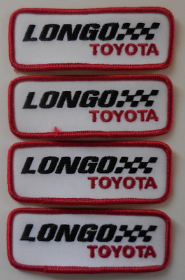 Collectible Patch Longo Toyota Embroidered Sew-On Patch Set of 4 New
