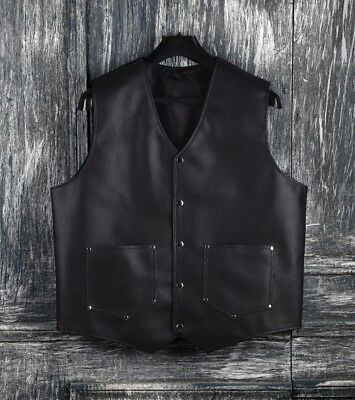 Men's Leather Barber Fashion Vest Apron Cape Hairstylist Hairdresser