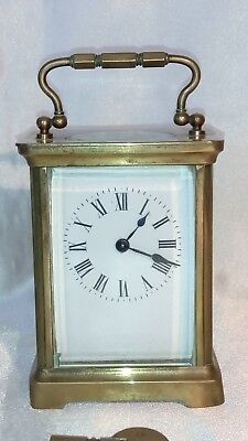 A Fine Looking  , Brass Carriage Clock With Probable French Movement.