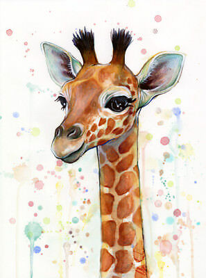 Giraffe Print Fashion Poster Home Interior Wall Picture Decoration A4