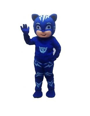 PJ Masks Blue Catboy Mascot Adult Costume Halloween Cosplay Disney Character