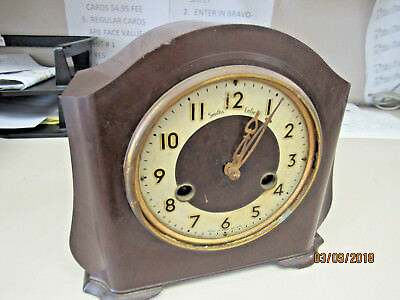 Vintage Smiths-Enfield Westminster Chime Mantle Clock  (11523-Rmt-Os)