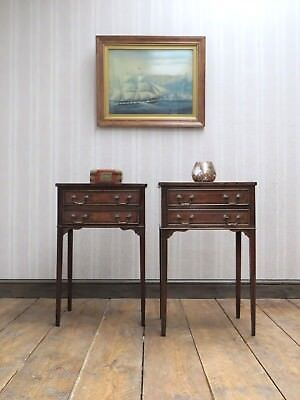 Quality Pair of Reproduction Antique Bedside Tables