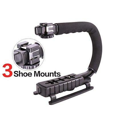 Video Camera Stabilizer Shoe Mount Handle Grip Rig Iphone Canon Nikon Dslr New
