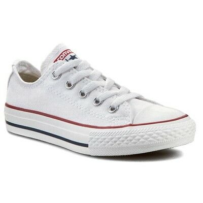 Converse Youth Chuck Taylor All Star OX Shoes  NEW AUTHENTIC Optical White 3J256