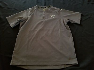 Under Armour Boys 1/4 Zip Pullover, Lightly Used, Size Youth Large, Gray