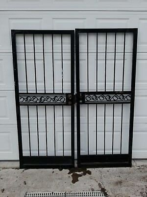 PRICE DROP!!! MAKE OFFER! Heavy Vintage French Style Double Wrought Iron Doors