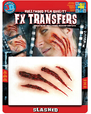 Slashed Horor Victim Wound 3D FX Transfer Costume Accessory
