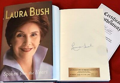 Signed First Lady Laura Bush book - Spoken From the Heart - with COA!!