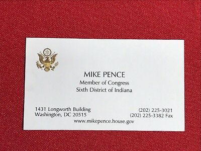 Vice President Mike Pence 2006 U.S. Congress business office card - Vintage