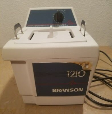 vtg working Bransonic Branson 1210R-MT Ultrasonic Cleaner with lid & screen