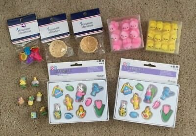Lot of EASTER MINIATURES Bunnies, Ducks, Chicks + EUC