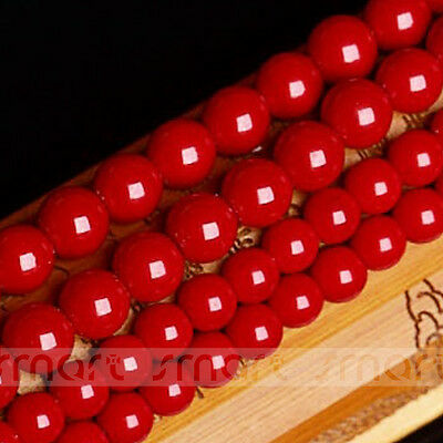 """Synthetic Coral Gemstone Round Loose Beads 15.5"""" Inches Strand 4 6 8 10mm"""