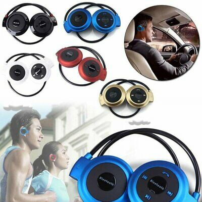 Sport Wireless Bluetooth Headset Stereo Headphone Earphone Handsfree FM Radio
