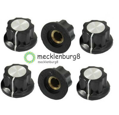 5Stks 16mm Top Rotary Control Turning Knob for Hole 6mm Dia. Shaft Potentiometer