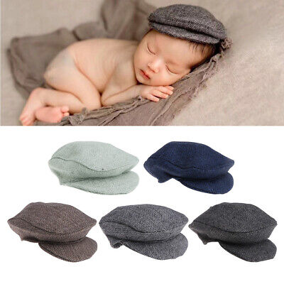 Newborn Baby Peaked Beanie Cap Hat Baby Boys Girls Photography Prop 0-1M Cute