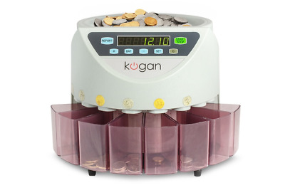 Kogan COIN COUNTER AUSTRALIAN SORTER AUTOMATIC MONEY COUNTING MACHINE