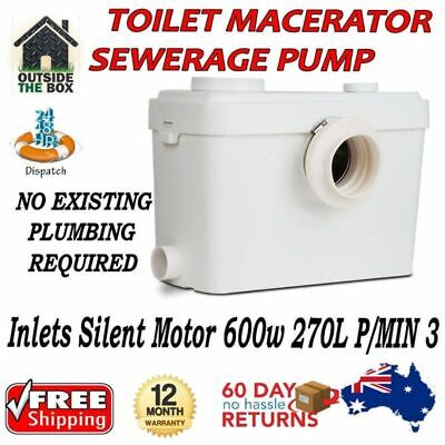 Toilet Macerator Sewerage Pump Waste Disposal Unit New Auto Water Bathroom Flush