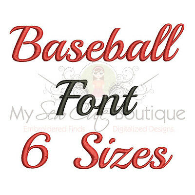 Baseball Alphabet Embroidery Fonts Machine Embroidery Design - IMPFCD28