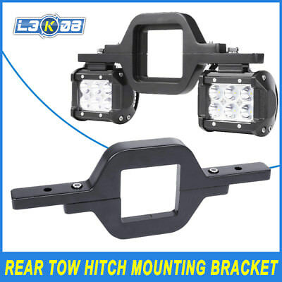 Universal Rear Tow Hitch Mounting Bracket Dual LED Light Backup Reverse Lamp NEW