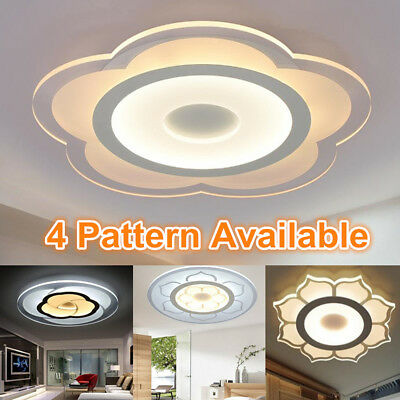LED Modern Flower Acrylic Ceiling Light Chandelier Lighting Lamp Fixture 15/18W