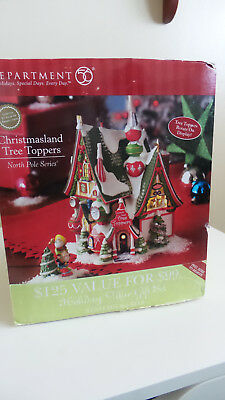 Dept 56 North Pole Christmas Land Tree Toppers In Original Box