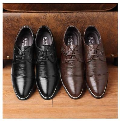 Mens Fashion Black Leather Shoes Formal Smart Dress UK Size 5 6 7 8 9 10 11 new