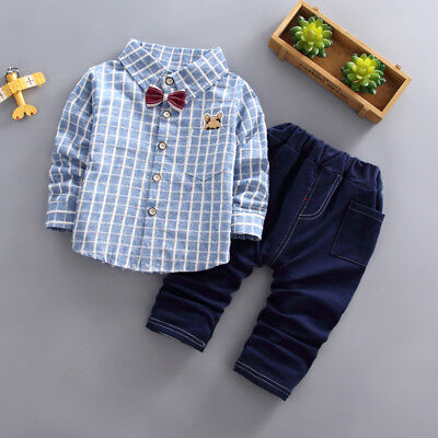 Kids Baby Boys Boy Clothes Clothing Sets Toddler Infant Outfits Set Shirt +Pants