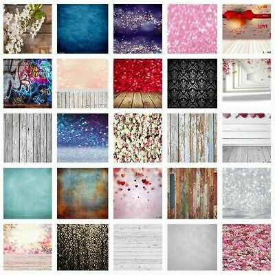 Multi-Typ Vintage Photography Backdrops Glitter Heart Wood Backgrounds 3x5/5x7ft