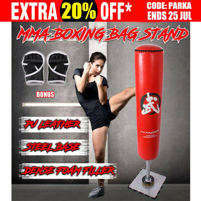 Boxing Bag Stand Free Standing Punching Dummy Target Kick Martial Home Gym 180CM