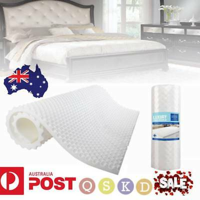 Deluxe Egg Crate Mattress Topper 5cm Underlay Protector King Double Single Queen