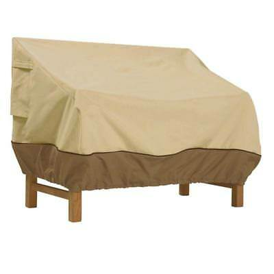 Beige Water Repellent Veranda 58 in. Polyester Patio Loveseat Bench Cover